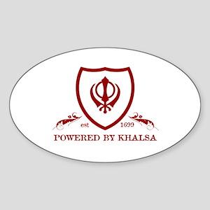 Powered by KHALSA - Oval Sticker