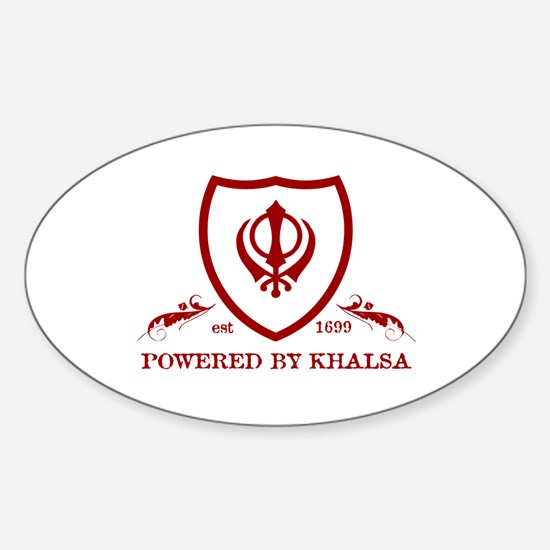 Powered by KHALSA - Oval Decal