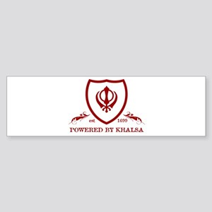 Powered by KHALSA - Bumper Sticker