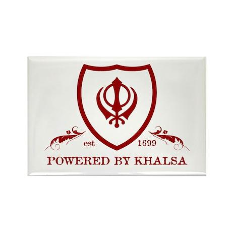 Powered by KHALSA - Rectangle Magnet