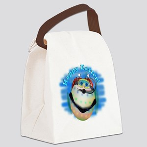 Scuba Diving Easter Egg Canvas Lunch Bag