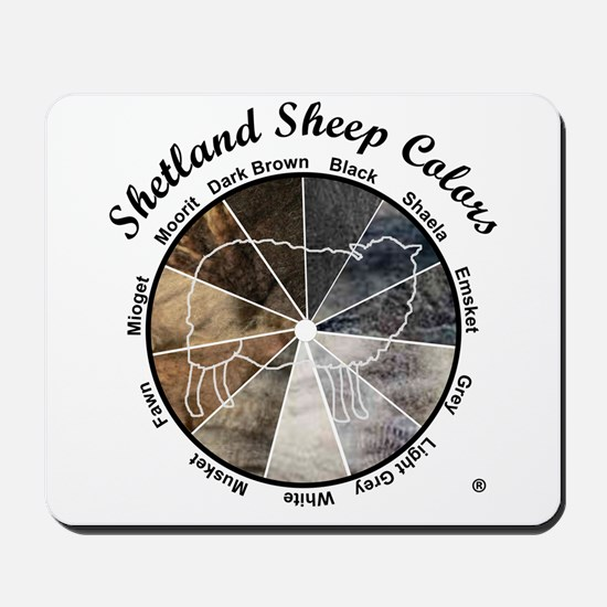 Shetland Sheep Colors Mousepad