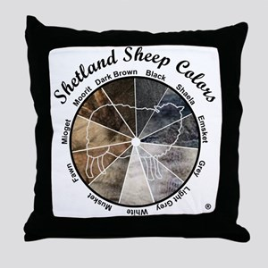 Shetland Sheep Colors Throw Pillow