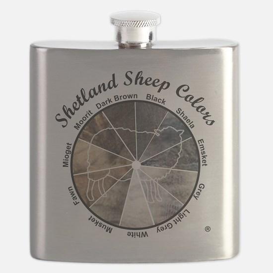 Shetland Sheep Colors Flask