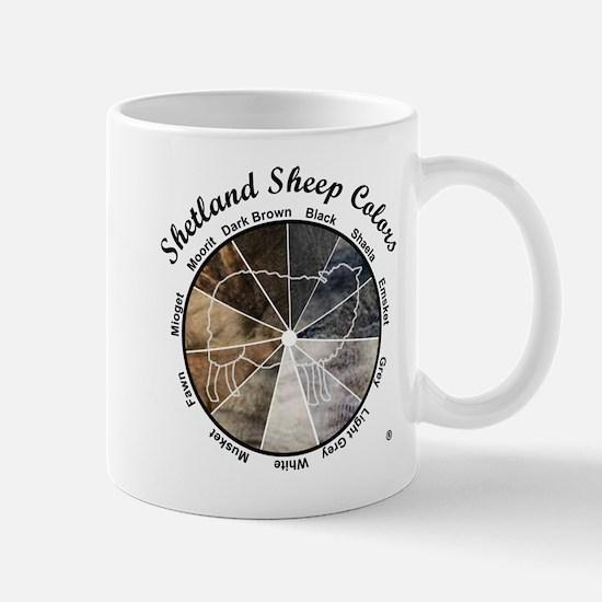 Shetland Sheep Colors Mugs