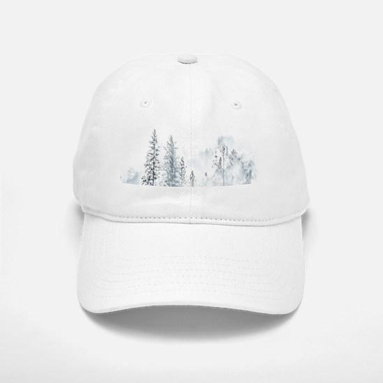 Winter Trees Baseball Baseball Cap