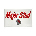 Navy Major Stud Rectangle Magnet (10 pack)