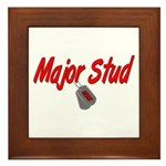 Navy Major Stud Framed Tile