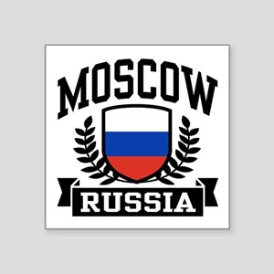 """Moscow Russia Square Sticker 3"""" x 3"""""""