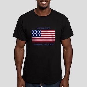 Newport Rhode Island Men's Fitted T-Shirt (dark)