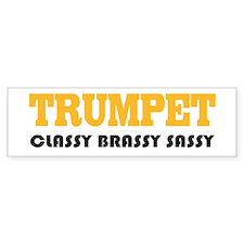 Classy Brassy Trumpet Sticker (Bumper)