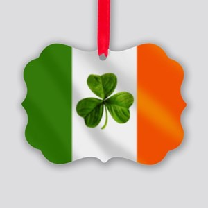 Irish Shamrock Flag Ornament