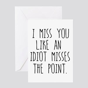 I miss you greeting cards cafepress miss you greeting cards m4hsunfo