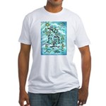 Kokopelli - Turq. Fitted T-Shirt