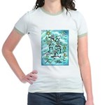 Kokopelli - Turq. Jr. Ringer T-Shirt