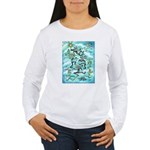 Kokopelli - Turq. Women's Long Sleeve T-Shirt