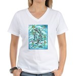 Kokopelli - Turq. Women's V-Neck T-Shirt