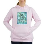 Kokopelli - Turq. Women's Hooded Sweatshirt