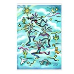 Kokopelli - Turq. Postcards (Package of 8)