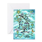 Kokopelli - Turq. Greeting Card