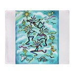 Kokopelli - Turq. Throw Blanket