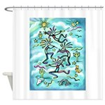 Kokopelli - Turq. Shower Curtain