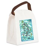 Kokopelli - Turq. Canvas Lunch Bag