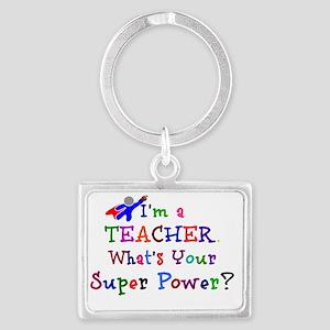 Teacher Superhero Landscape Keychain