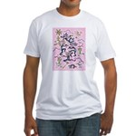 Kokopelli (pink) Fitted T-Shirt