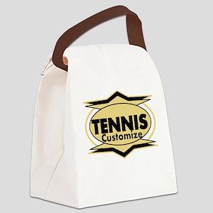 Tennis Star stylized Canvas Lunch Bag