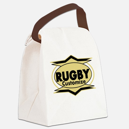 Rugby Star stylized Canvas Lunch Bag