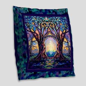 TREE SPIRIT Burlap Throw Pillow