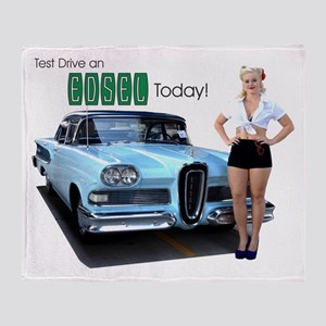 Test Drive an Edsel Today! Throw Blanket