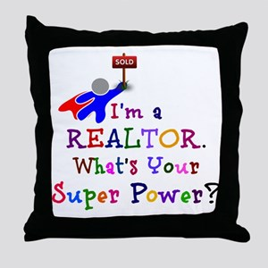 Realtor Super Power Throw Pillow