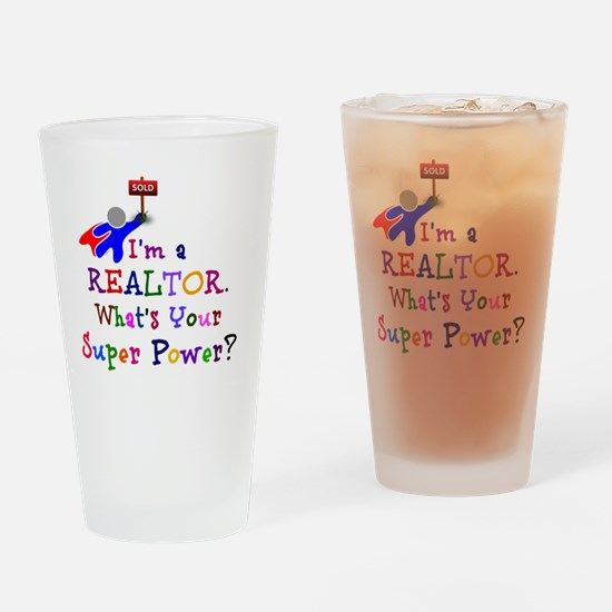 Realtor Super Power Drinking Glass