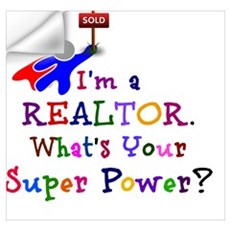 Realtor Super Power Wall Decal