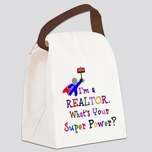 Realtor Super Power Canvas Lunch Bag