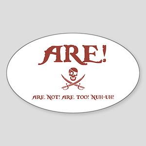 Are! II Oval Sticker