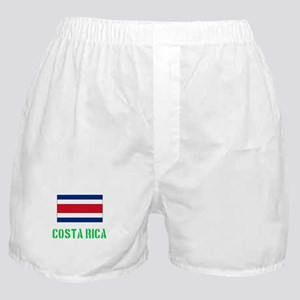 costa rica Flag Stencil Green Design Boxer Shorts