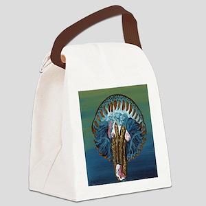 Blue Jellyfish Canvas Lunch Bag