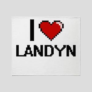 I Love Landyn Throw Blanket
