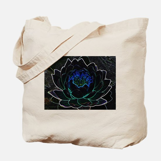 Neon Water Lily Tote Bag