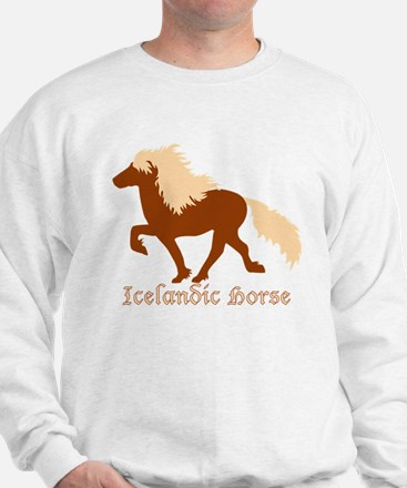 Chestnut Icelandic Horse with lettering Sweatshirt