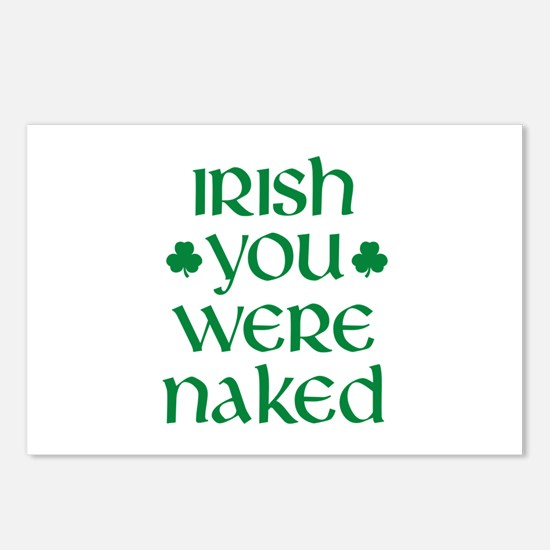 Irish You Were Naked Postcards (Package of 8)