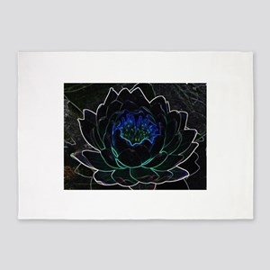 Neon Water Lily 5'x7'Area Rug
