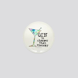 GIN is cheaper than therapy Mini Button