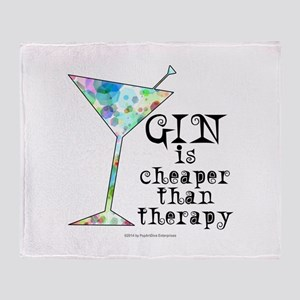 GIN is cheaper than therapy Throw Blanket