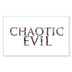 Chaotic Evil Rectangle Decal