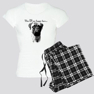 Bullmastiff Happy Face Women's Light Pajamas