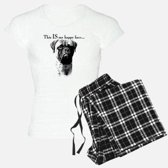 Bullmastiff Happy Face Pajamas
